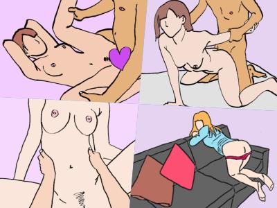 色々な体位でセックスしているカップル