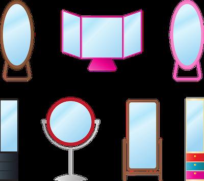 色々な種類の鏡